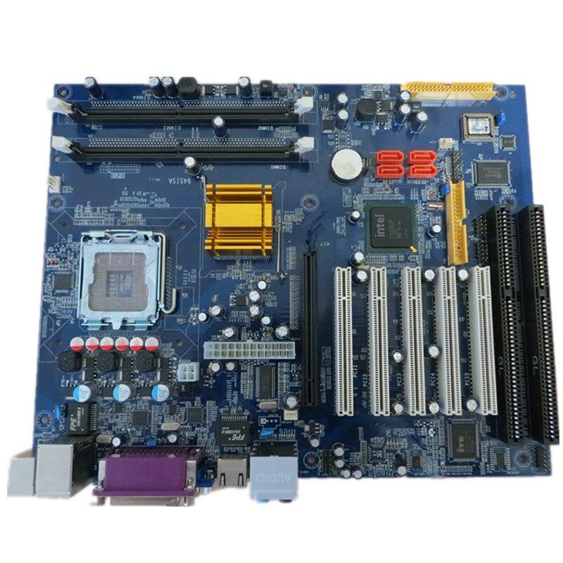 5 stücke 945 industrielle ddr2 motherboard buchse 775 motherboard mit 2 * ISA und 5 * PCI Slots unterstützung Intel chipsatz