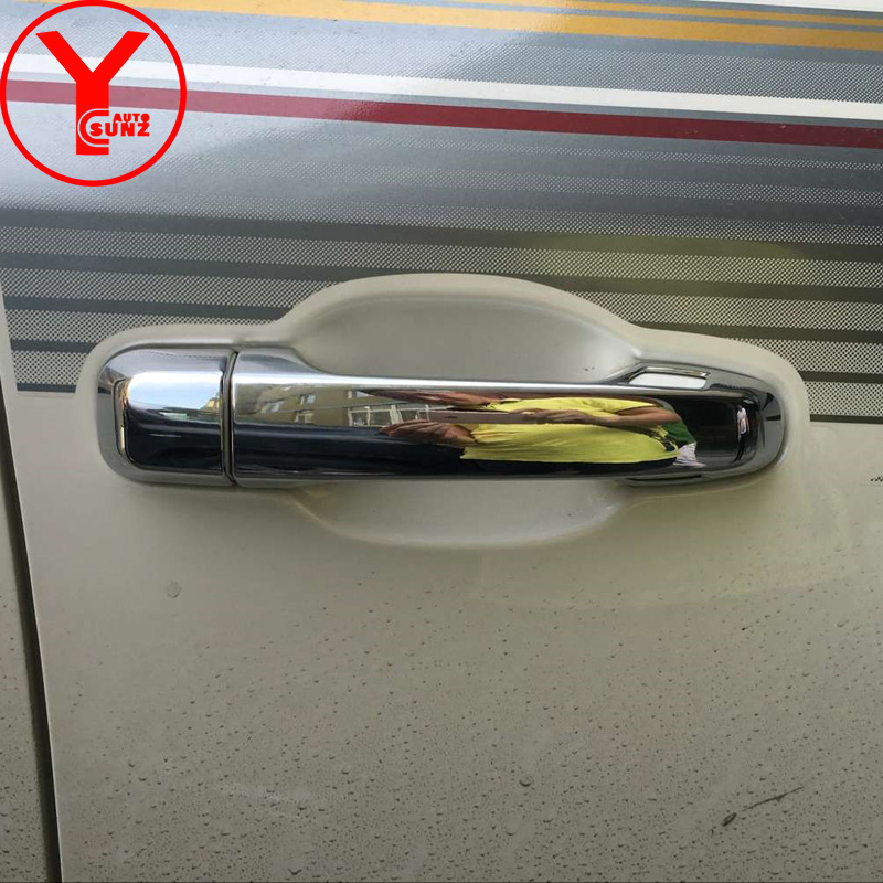 2016 door handle cover For Toyota Land cruiser 200 GXR V6 V8 2016 2017 2018 2019 ABS car chrome parts handle accessories YCSUNZ