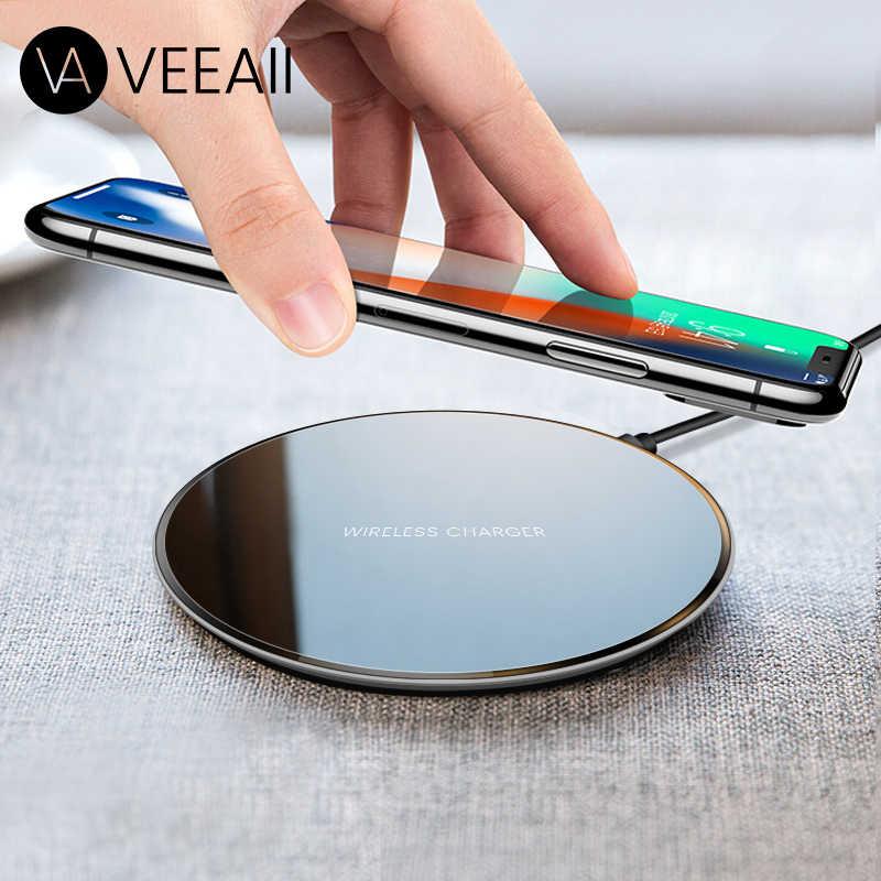 Veeaii Qi 5 W Nirkabel Cepat Charger untuk iPhone Max X XR X 8 Plus untuk Samsung Galaxy S8 S9 note 8 9 Huawei Xiaomi Pengisian Pad