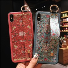 2019 Bohemia Case with Strap for iPhone XS MAX X XR Full Cover Holder 8 plus 7 6 6s Funda Women