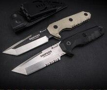 HX OUTDOORS SNIPER nóż taktyczny Camping polowanie 440C stali prosto nóż Rescue noże survivalowe narzędzia do pracy na zewnątrz Edc prezent