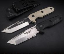 HX açık havada keskin nişancı taktik bıçak kamp avcılık 440C çelik düz bıçak kurtarma Survival bıçaklar dış ortam aracı Edc hediye