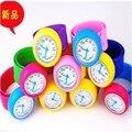 Niños reloj de la palmada, colorido de la jalea del silicón de la palmada reloj envío gratis 20 unids/lote