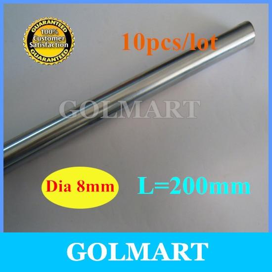 Линейный вал 10 шт диаметр 8 мм-L 200 мм хромированный вал, линейный вал движения