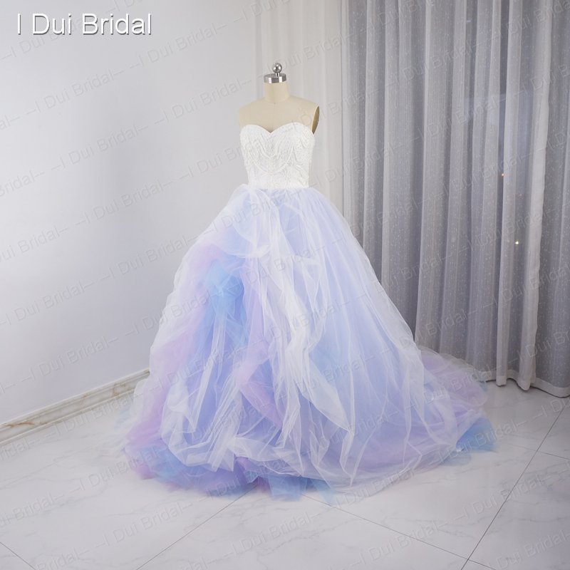 Colorful Wedding Dresses Purple pink