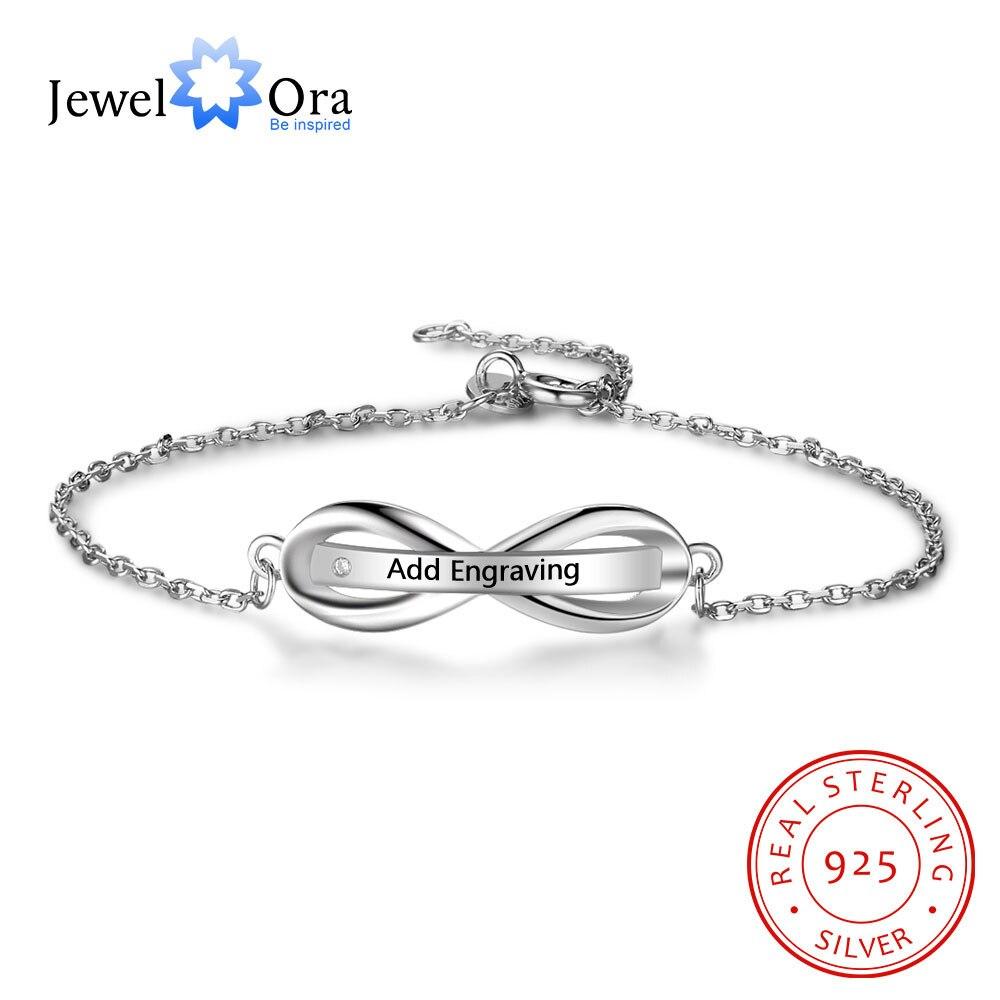 Personalised Gifts ID Bangles For Engrave Name 925 Sterling Silver Bracelets & Bangles (JewelOra BA102088) браслет 925 h03 bracelets bangles