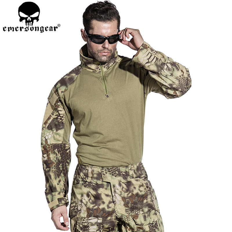 EMERSONGEAR G3 Combat Shirt Military Army Airsoft Tactical Camouflage T-shirt Mandrake EM8593 camouflage pattern cold shoulder loose fit t shirt