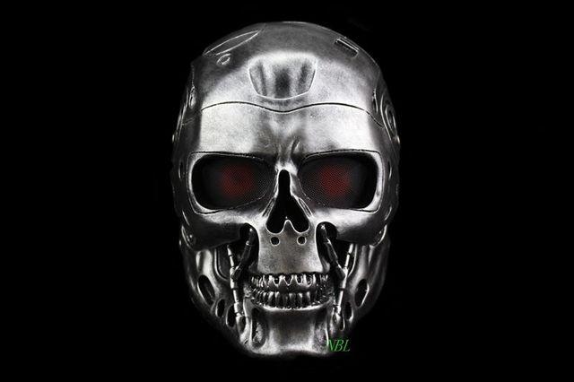 Terminator Skull Airsoft Full Face Helmet Mask Horror CS Halloween Protective Masquerade Party Cosplay Outdoor Props Resin Masks