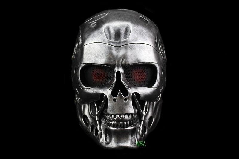 Terminator crâne Airsoft casque intégral masque horreur CS Halloween masque de protection fête Cosplay accessoires d'extérieur masques en résine