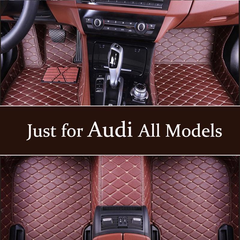 factory outlet Car Floor Mats Fit For Audi A1 A3 A4 A5 A6 C6 A7 A8 Q2 Q3 Q5 Q7 R8 S1 S3 S5 S6 S7 SQ5 8R SQ7 RS3 RS5 RS6 TT mats(China)