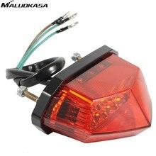 MALUOKASA Moto rcycle задний фонарь светодиодный светодиод лампа для заднего освещения rbike тормоза стоп-сигналы поворотники для Honda Yamaha