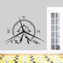 Sea Nautical Compass Wall Decal Design Home Decor Mountain Rose Art Sticker Removable AZ122