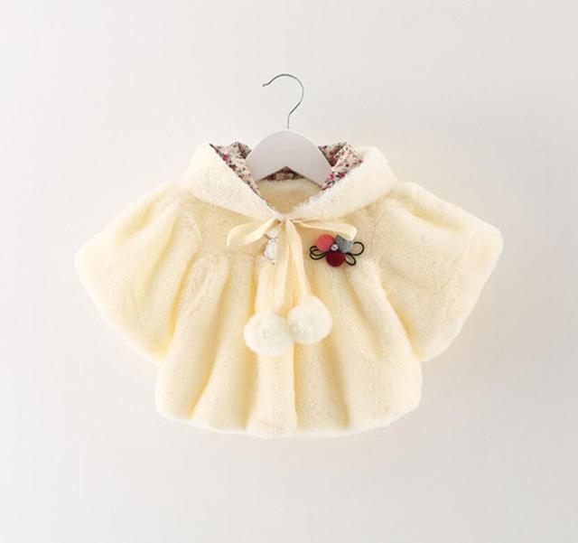202e77353f9d Baby girls wool Jacket winter baby shawl children clothing baby girl ...