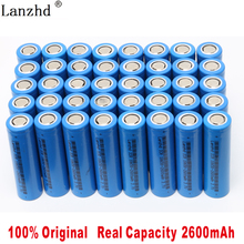 40PCS 2019 Battery for samsung 18650 Li ion 3.7V Rechargeable batteries 2600maH ICR18650 26F flashlight