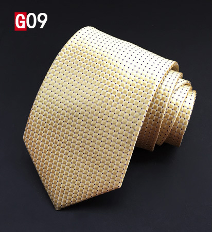 SCST Brand Designer 2017 New Cravate Corbatas 8cm Slim Mens Necktie Wedding Tie Gold Silk Ties For Men Neckties Gravata A004