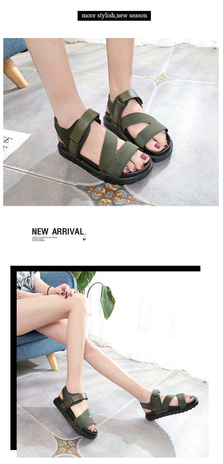Summer Sandalias Mujer 2019 Shoes Woman Classics Gladiator Hook Loop Sandals Women Shoes Casual Flat Platform Block Heel Shoes 19
