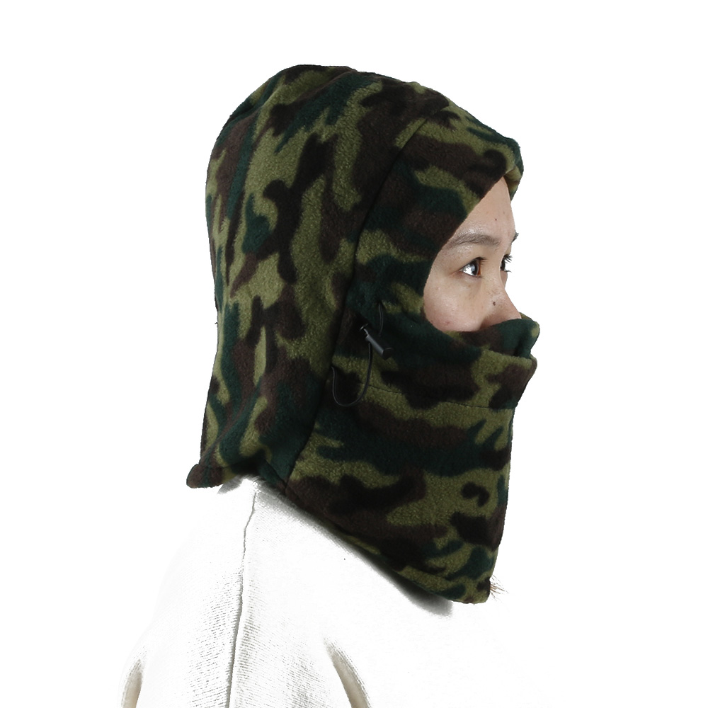Deluxe Camo Snood with Face Guard Fishing Hunting Warmer Balaclava Hat 500