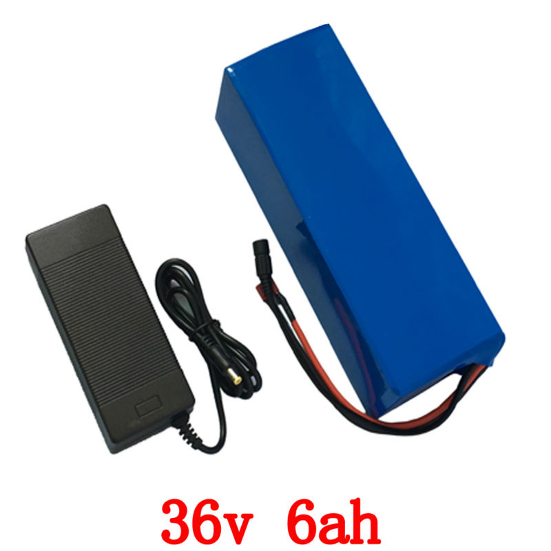 Electric bicycle battery 36v 6Ah 500W E-Bike Battery 36V with 42v 2A charger and15A BMS 36v Lithium Battery Free Shipping free customs tax 36v 500w ebike lithium battery 36v 15ah electric bike down tube bottle battery with charger for samsung cell