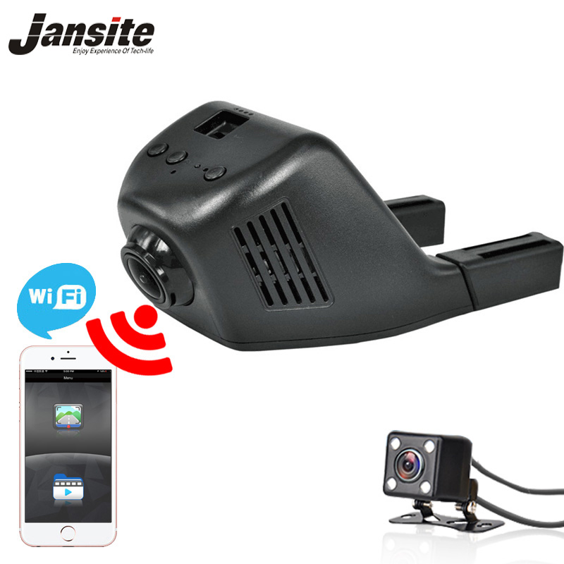 Jansite Car Dvr Wifi Car Camera Registrator Digital Video Mini Dash Cam Video Recorder Camcorder Full HD 1080P Dual Lens Dvr home philosophy статуэтка oliner 9х13х19 см