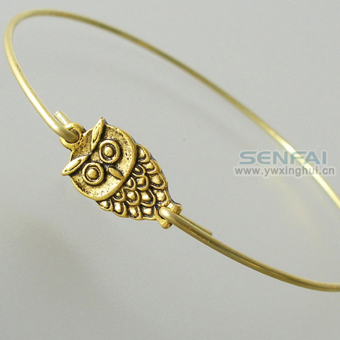 Vintage Silver Gold Owl Bracelets Bangles Fashion Bird Wire ...
