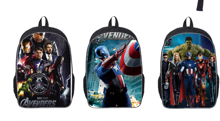 16 Inch The Avengers Captain America Iron Man School Bags Mochila 3D Cartoon Orthopedic Children Backpack For Boys Teenagers famous brand school backpack the avengers captain america iron man fashionable laptop backpacks high quality leather