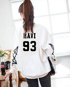 3aad027df61b1 Harajuku style women  s kpop o neck sweatshirt vixx member names stars  printing pullover hoodies plus size ravi hongbin hoodie