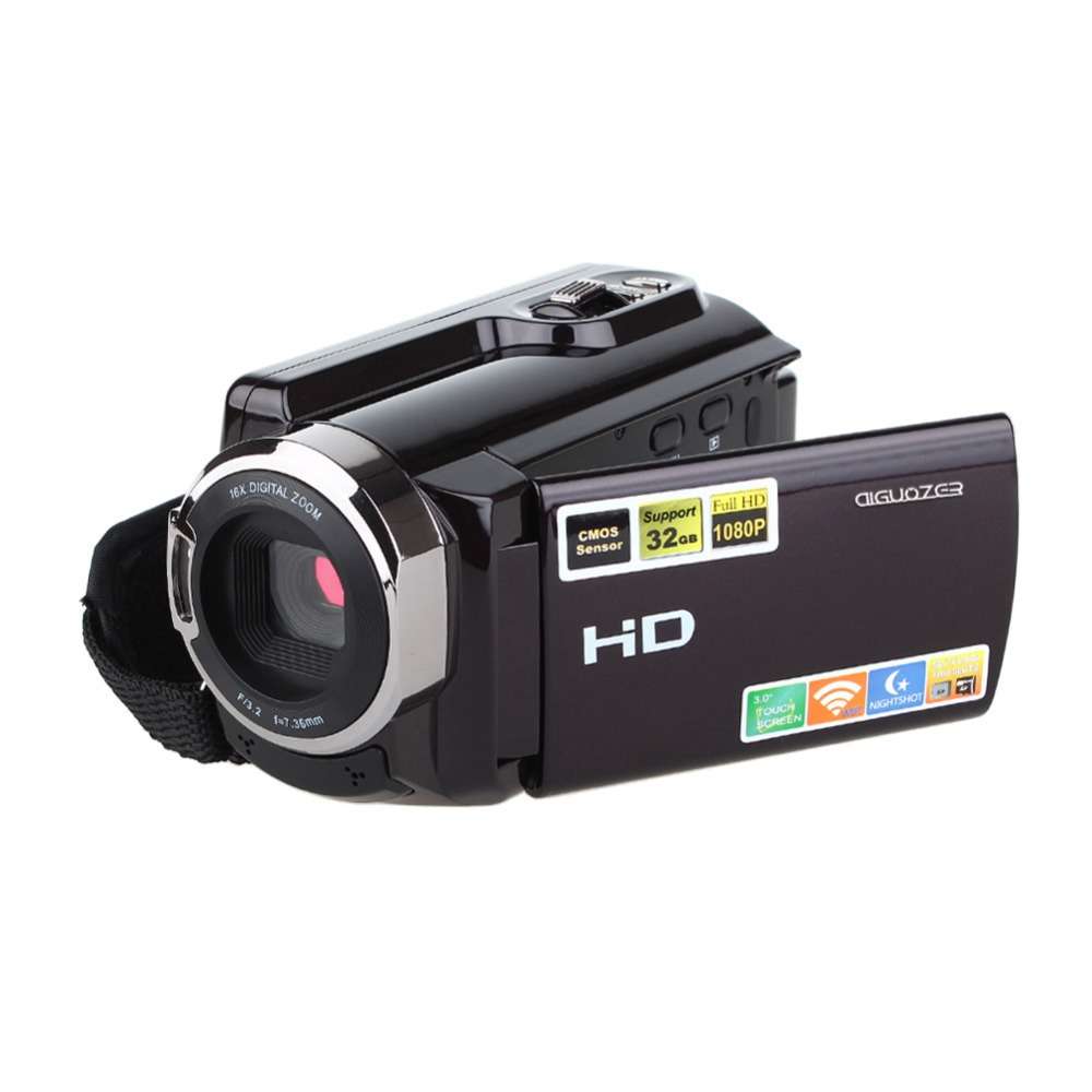 1080p 16x HDV-5053STR Portable Camcorder Full HD Digital Zoom Digital Video Camera Recorder DVR with Wifi Max.20MP Touch Screen цена