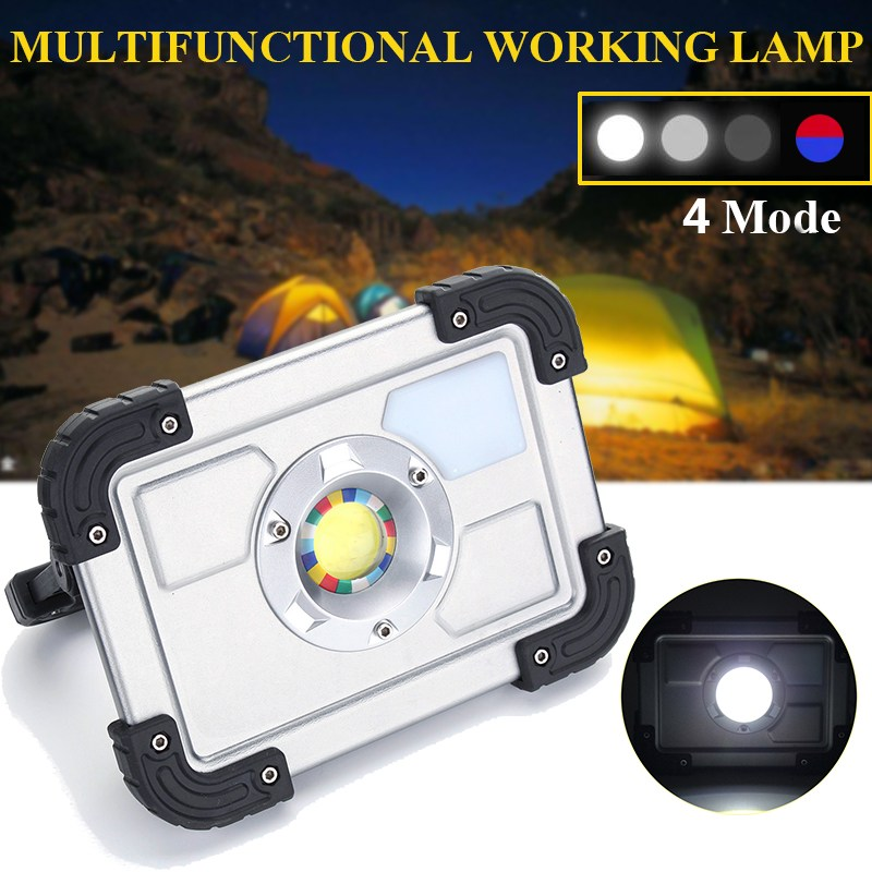 30W COB LED Portable Rechargeable LED Flood Light LED Spotlight Work Camping Outdoor Lawn Lamp