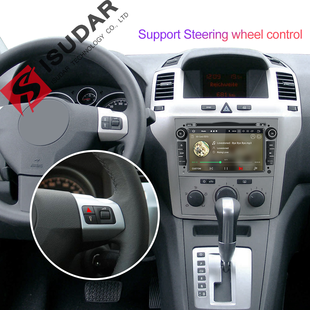 Image 2 - Isudar Car Multimedia Player GPS Android 9 2 Din DVD Automotivo For OPEL/ASTRA/Zafira/Combo/Corsa/Antara/Vivaro Radio FM DSP DVR-in Car Multimedia Player from Automobiles & Motorcycles