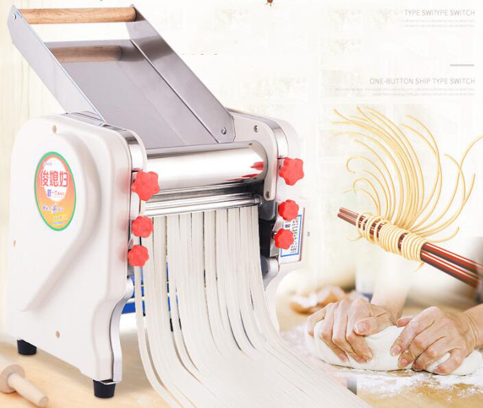 Electric noodles making pressing machine pasta maker noodle cutting machine dough roller commercial and home use 3 mm 9mm EU US 35 40kg h commercial pasta machine electric pasta noodle maker machine household noodles machine with best quality