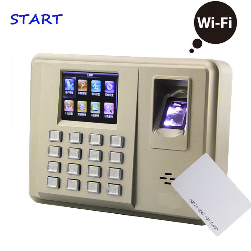WIFI Communication Fingerprint Time Attendance And Fingerprint Reader Biometric Employee Tracking System ZKTX638