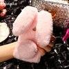 AKABEILA Rabbit Fur Soft Phone Cases For Alcatel Shine Lite 5080X Silicone TPU Coque For Alcatel