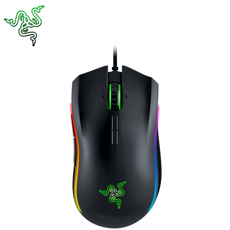 Razer Wired Gaming Mice MAMBA TOURNAMENT EDITION 16000dpi for Windows 10/8/7 Game Mouse Ergonomics Mouse Gamer Official logitech g pro gamer gaming mouse 12000dpi rgb wired mouse official genuine usb gaming mice for windows 10 8 7