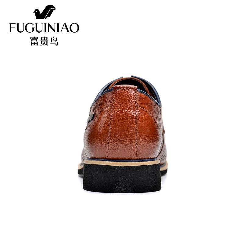 En Printemps marron Tête D'été Noir Fuguiniao Couche Britannique D'affaires Véritable Vachette Cuir Robe Chaussures Oxfords Hommes 5xggUwpqn0