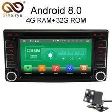 Sinairyu 4G Ram Android 8.0 DVD del coche para Subaru Impreza Forester 2008 2009 2010 2011 octa Core 32G rom Radios GPS Unidad Principal
