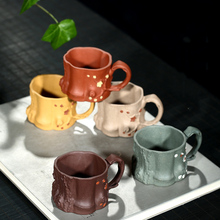 PINNY 65ML Yixing Purple Clay Plum Tree Stump Teacup Five Color Natural Sand Tea Cups Chinese Kung Fu Set Drinkware