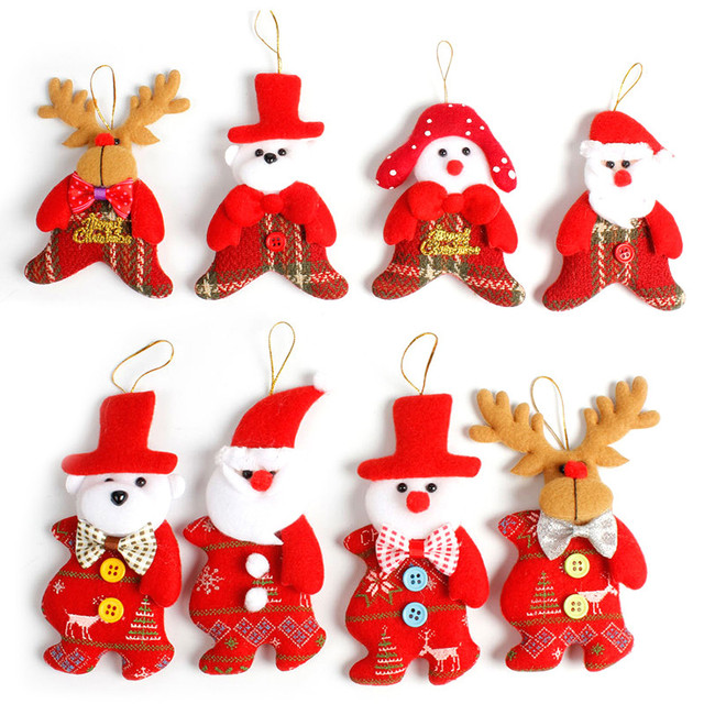 2018 Hot New Santa Claus Bear Reindeer Snowman Pendant Ornaments Christmas Tree Decorations Party Home