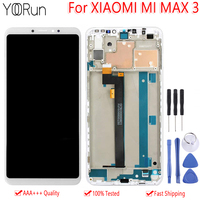 6.9 For Xiaomi Mi Max 3 LCD Display Touch Screen 100% Tested Digitizer Assembly Replacement With Frame For XIAOMI Mi MAX3 LCD