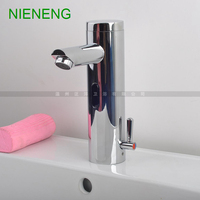 NIENENG sensor faucets bathroom sink faucet hot cold water automatic hospital taps fitment basin mixer restaurant tap ICD60236