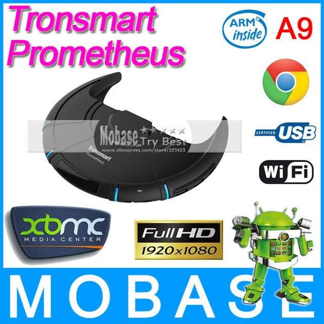 Tronsmart Prometheus XBMC TV Box Amlogic M6 Dual Core Android 4.1.2 1G/4G Hand Switch WiFi HDMI RJ45 3 USB Black Mini PC Dongle