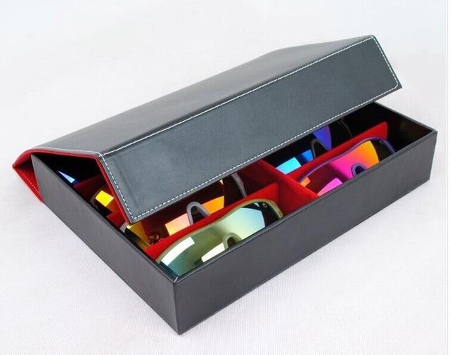 Merveilleux 8B Quality Eyeglass Eyewear Sunglasses Storage Box Case Tray Display Hold  8pcs Of Glasses Leather Pu