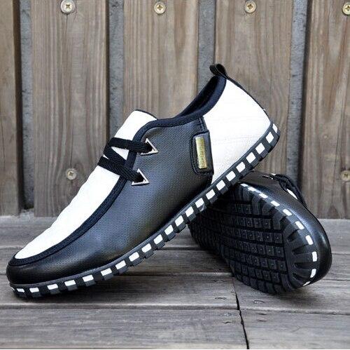 Plus White 46 De black And Pu Mode Et D'hiver Automne Laçage Coton Hommes Nouvelle Black 39 Occasionnel all Chaussures Appartements All La White Goxpacer Black Taille blue g1TSqOn