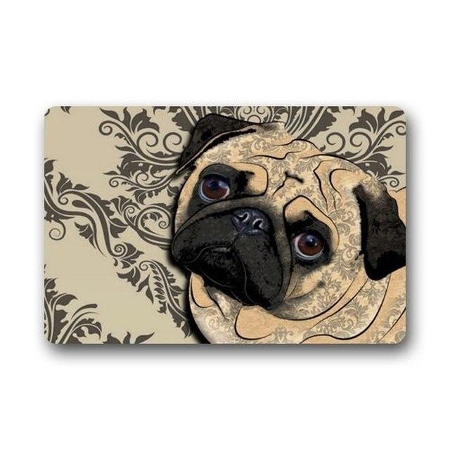 High Quality Memory Home Crseative Design Best Funny Cute Pug Dog Home Door Mats Doormat  Mat Bathroom Kitchen