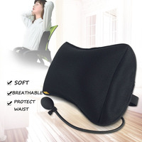 Travel Portable Inflatable Lumbar Waist Cushions Press Style Inflatable Travel Cushion Office Car Seat Summer Breathable Back