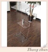 Public Address Lecterns Plexiglass Pulpit Acrylic Podium Stand Acrylic Lectern Podiums Electronic Lectern