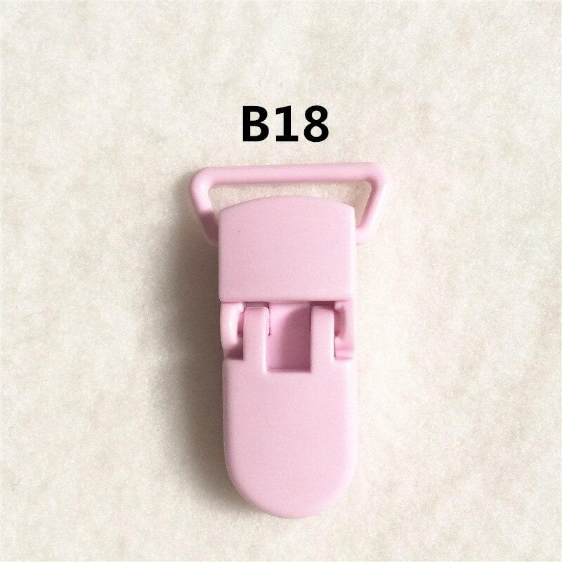 20 цветов) DHL 200 шт. 20 мм КАМ Пластик маленьких Соски NUK MAM пустышка Chain Зажимы чулок Зажимы - Цвет: B18