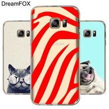 DREAMFOX L412 Zebra Animal Soft TPU Silicone Case Cover For Samsung Galaxy Note 3 4 5 8 S5 S6 S7 Edge S8 Plus Grand Prime