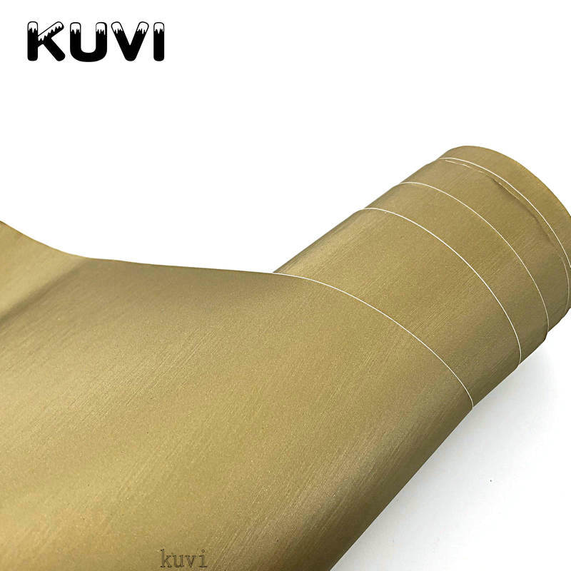 Bonne Qualité Or Métallique En Aluminium Brossé Métal De Vinyle De Voiture Wrap Film Autocollant Styling Auto Feuille Décoration Size1.52x28m/Rouleau