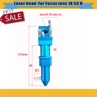 Free shipping CO2 Laser Head for Focus Lens Dia.18 FL.50.8 Mount for Laser Engraving Cutting Machine