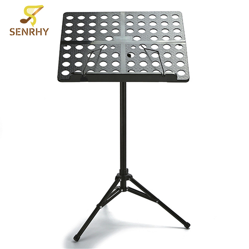 Senrhy Foldable Bass Guitar Music Stand Aluminium Music Holder with Case Cover For Musical Stringed Instruments Accessories russia seller wholesale white m903 flanger fl 05 professional telescopic foldable small music stand musical instrument gig bag